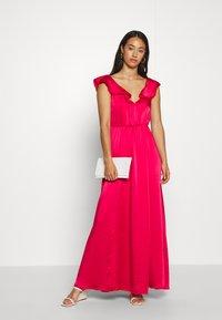 Vila - VIFLOATING FRILL MAXI DRESS - Suknia balowa - barberry - 1