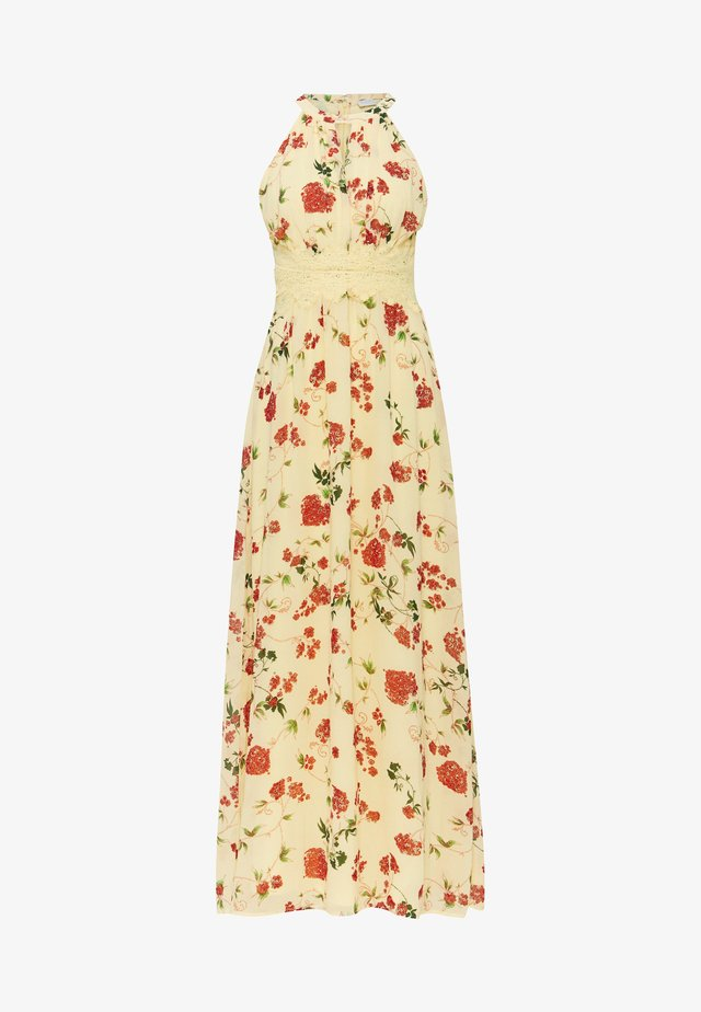 VIMILINA HALTERNECK DRESS - Abito da sera - mellow yellow