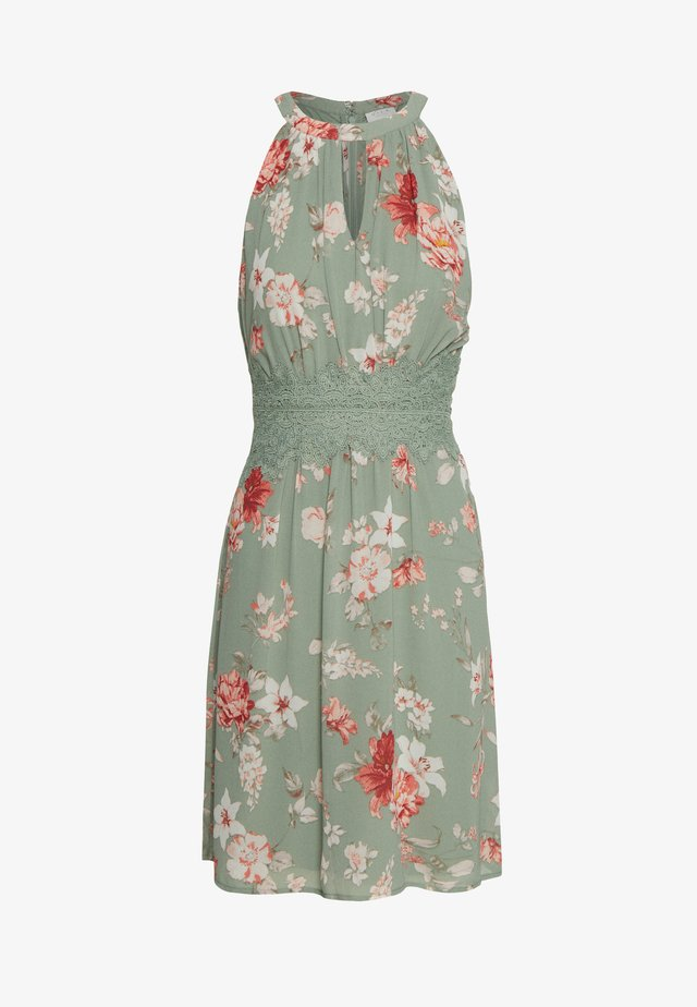 VIMILINA FLOWER DRESS - Korte jurk - green milieu