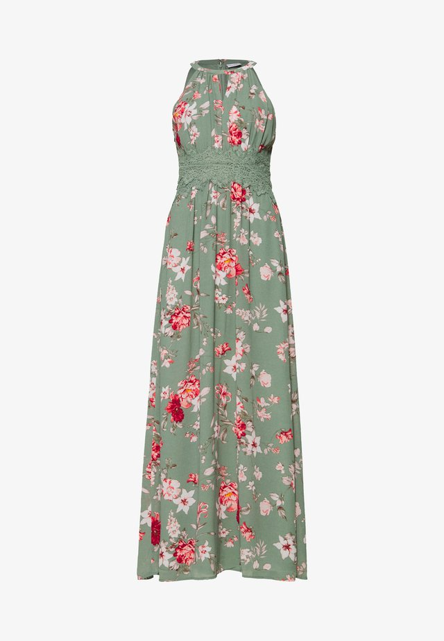 VIMILINA FLOWER DRESS - Maxi-jurk - green milieu