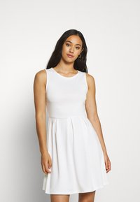Vila - VITINNY DOLL DRESS - Jerseyjurk - cloud dancer - 0