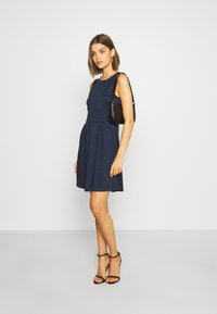 Vila - VITINNY DOLL DRESS - Jerseyjurk - navy blazer - 1