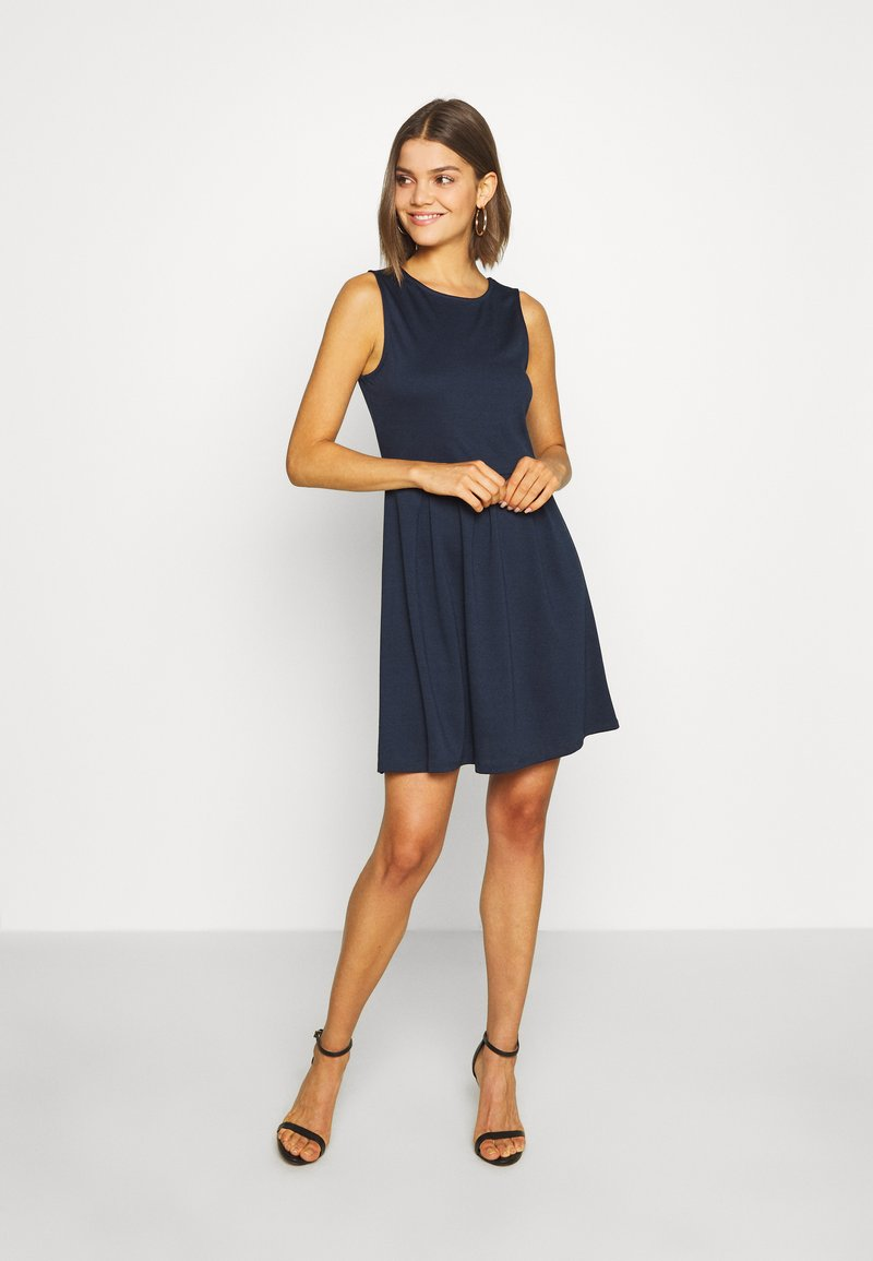 Vila - VITINNY DOLL DRESS - Jerseyjurk - navy blazer