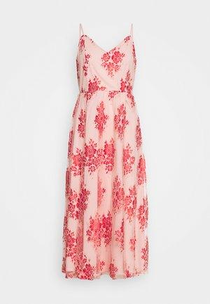 VIAPRIL MIDI DRESS - Juhlamekko - pale mauve/flame scarlet