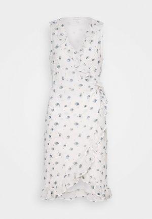 VIRILLABLUNIE WRAP DRESS - Korte jurk - cloud dancer/blunie