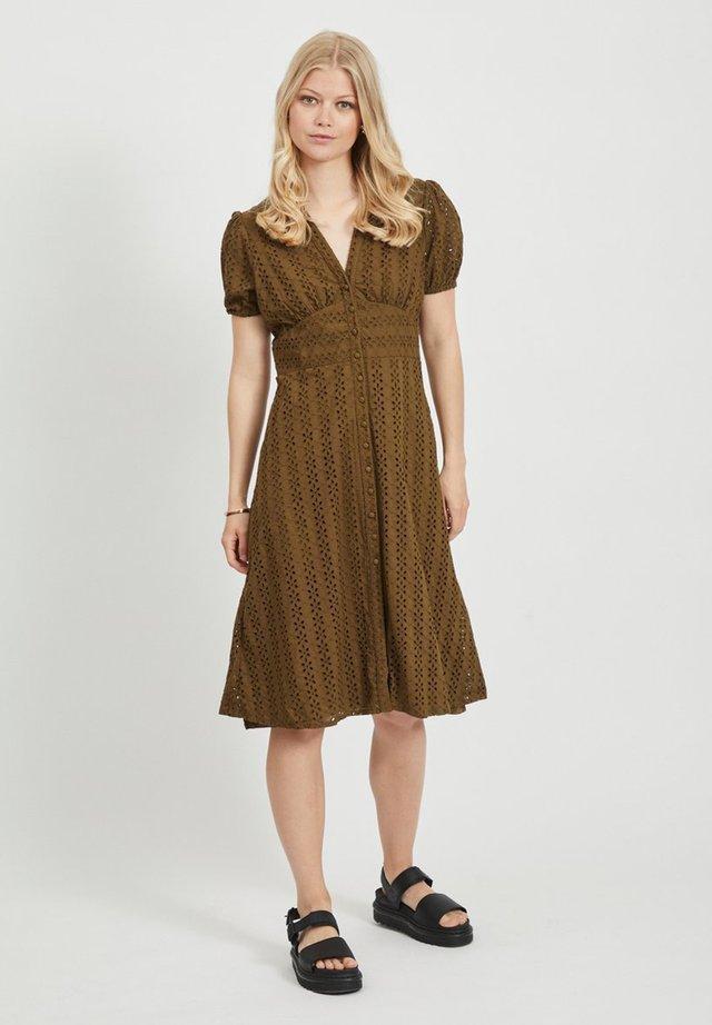 VICARLINE MIDI DRESS - Shirt dress - dark olive