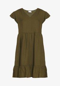 Vila - VINASRIN VNECK DRESS - Korte jurk - dark olive - 3
