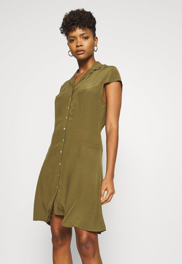 Shirt dress - dark olive