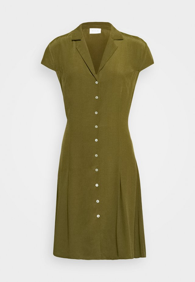 VIJESMA SHORT DRESS - Korte jurk - dark olive