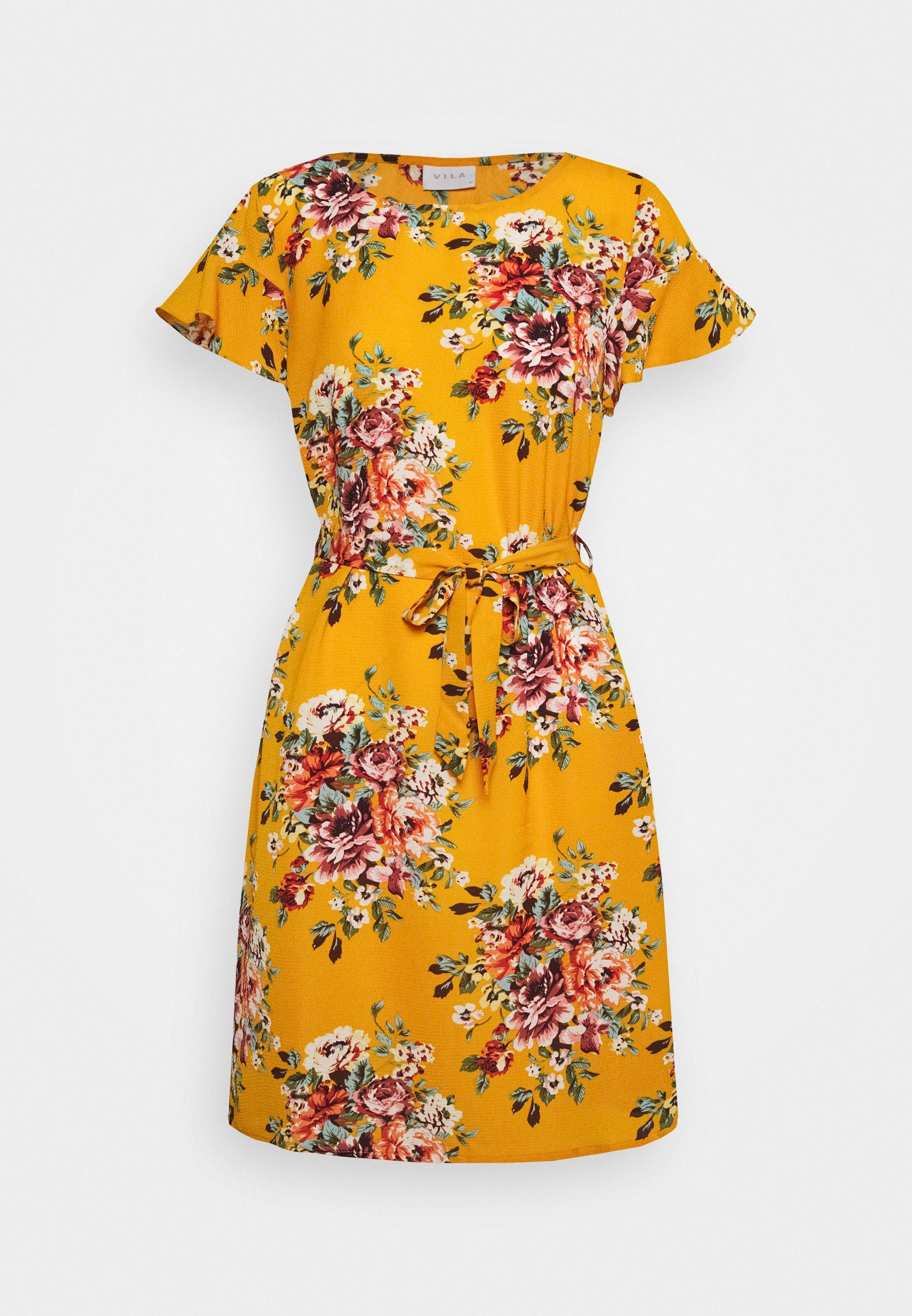 Kuviollinen mekko Sinapinkeltainen NAISET | H&M FI