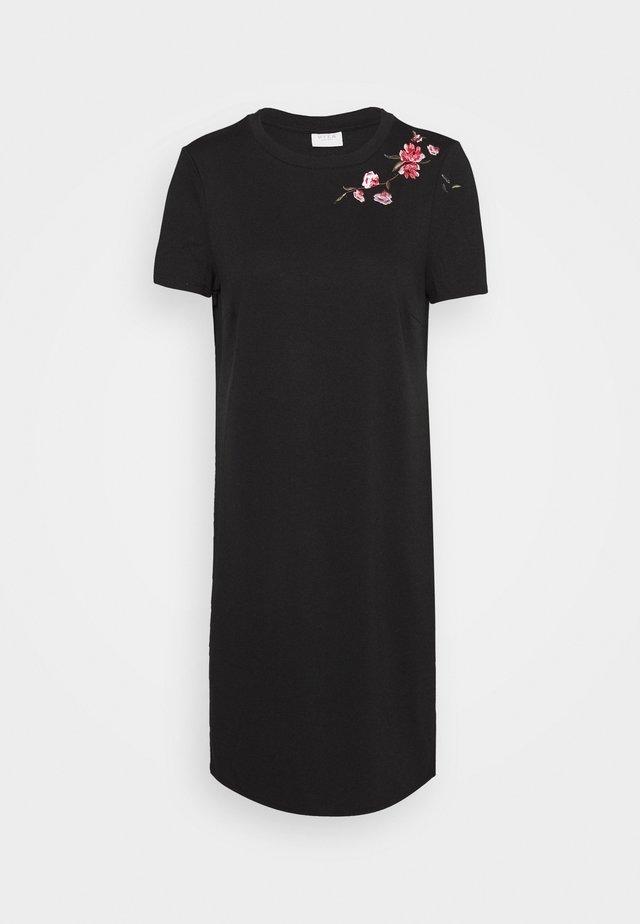 VITINNY SHOULDER EMBROIDERY  - Žerzejové šaty - black
