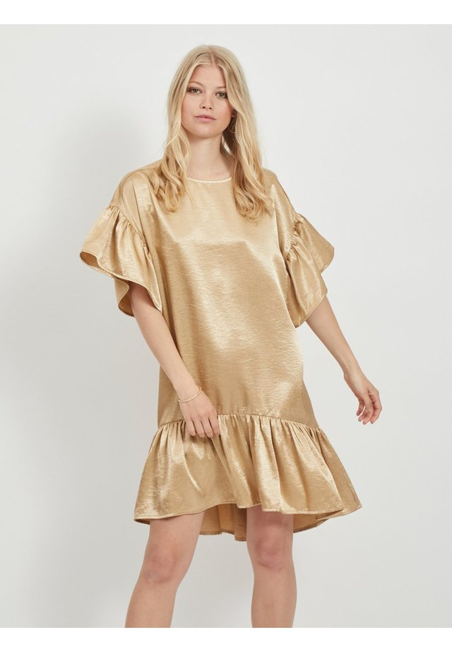 Korte jurk - soft camel