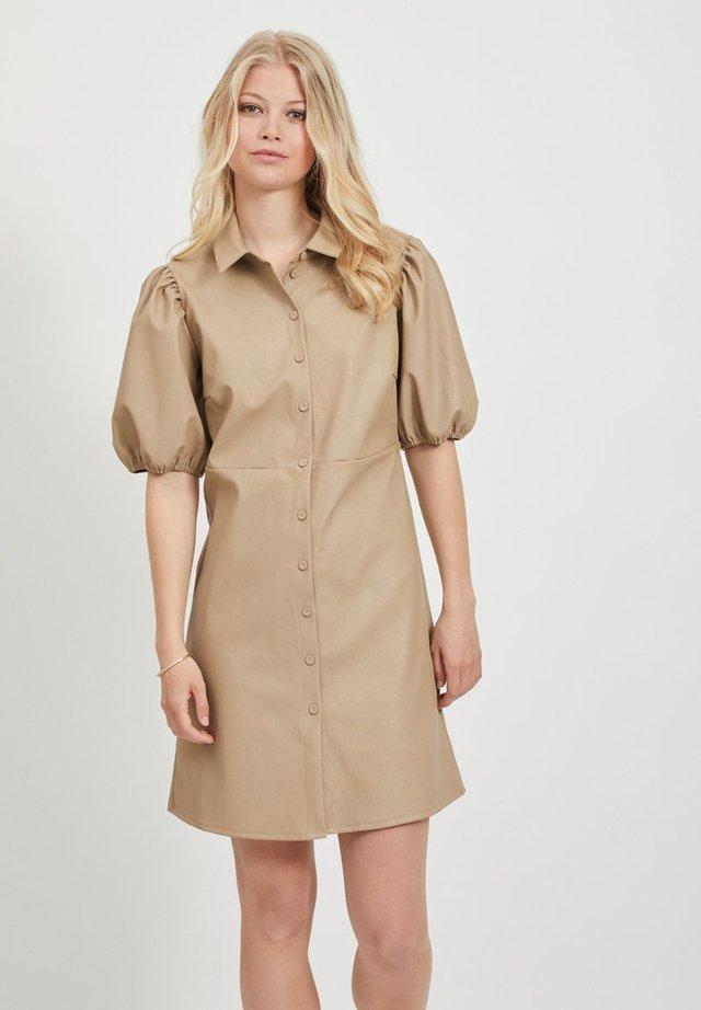 Shirt dress - soft camel