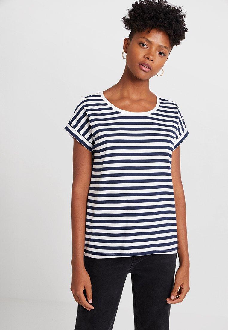 Vila - VIDREAMERS - T-Shirt print - cloud dancer/navy blazer