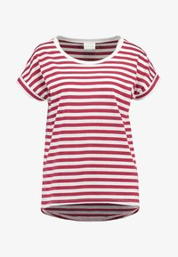 Vila - Print T-shirt - earth red/snow - 3