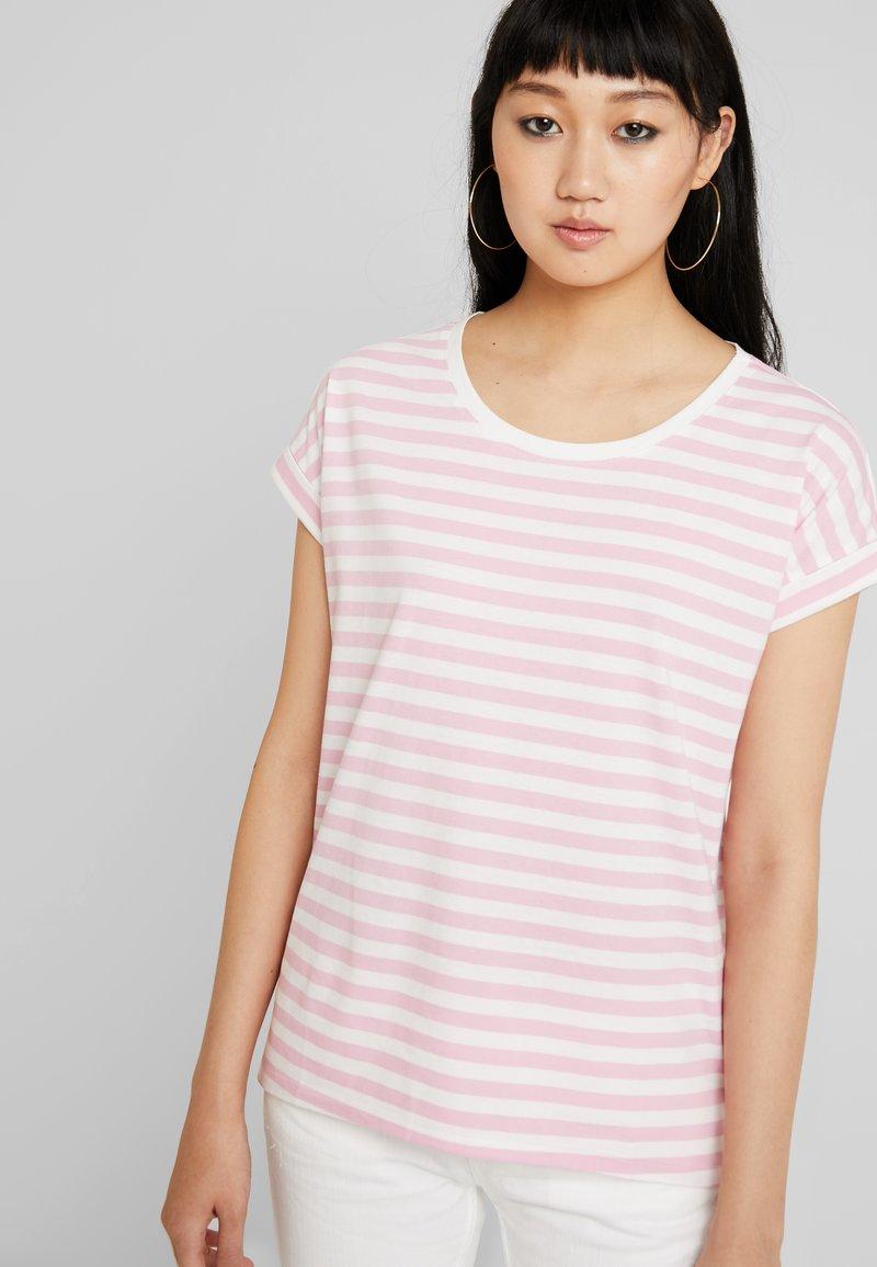 Vila - DREAMERS PURE - T-Shirt print - begonia pink/snow white