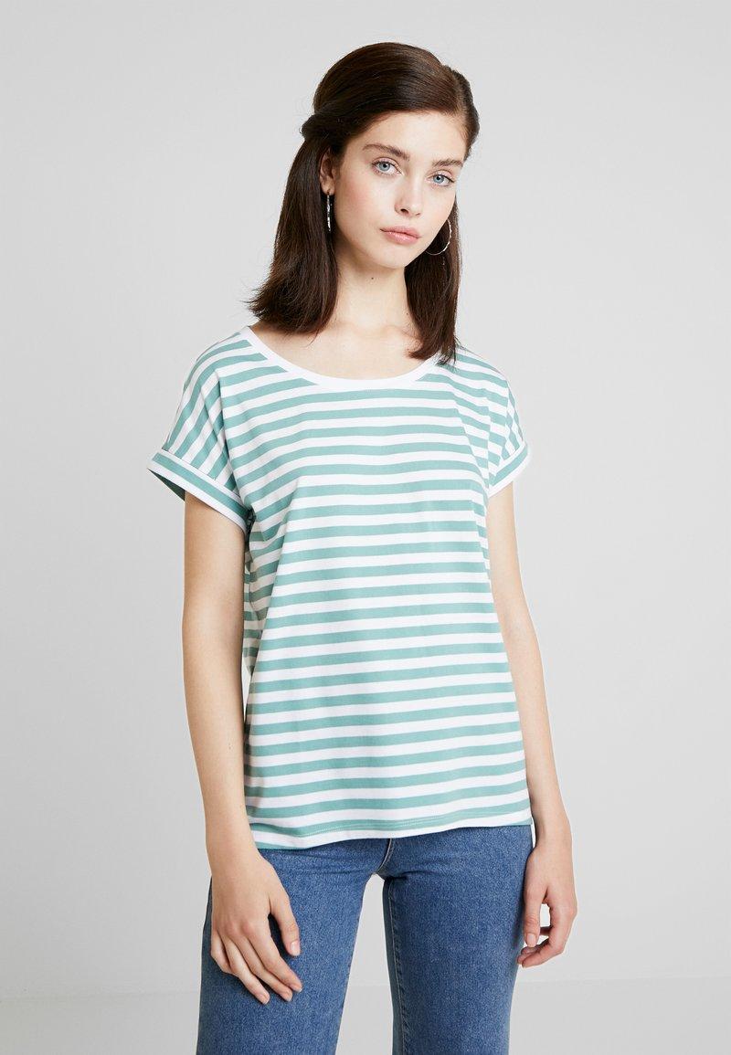 Vila - DREAMERS PURE - T-Shirt print - oil blue/optical snow