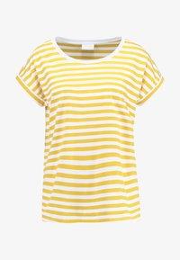 Vila - VIDREAMERS - Camiseta estampada - golden rod/optical snow - 3
