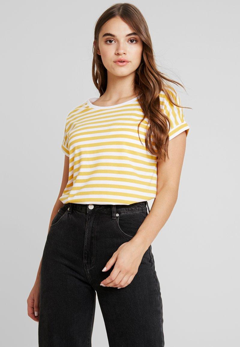 Vila - VIDREAMERS - Camiseta estampada - golden rod/optical snow