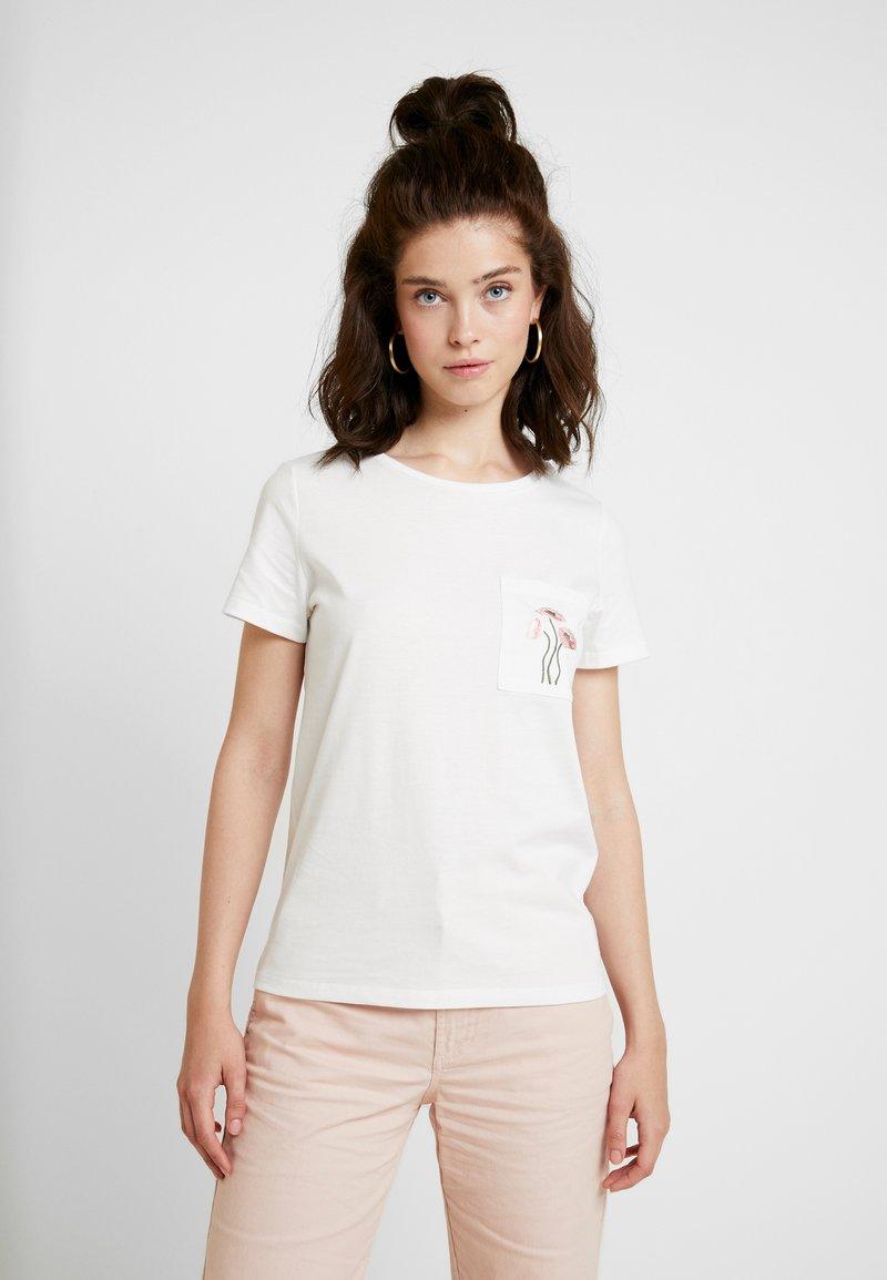 Vila - VIVALMU - T-Shirt print - cloud dancer