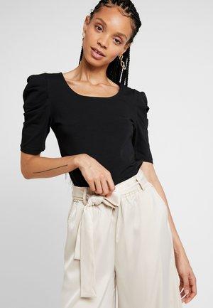 VIDENNA - T-shirt med print - black