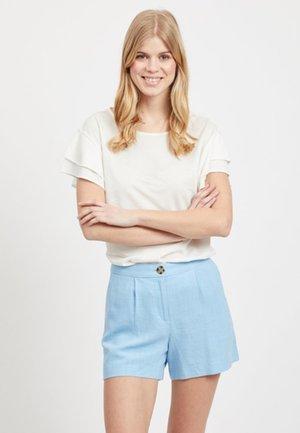 RÜSCHENDETAIL - T-shirt imprimé - off-white