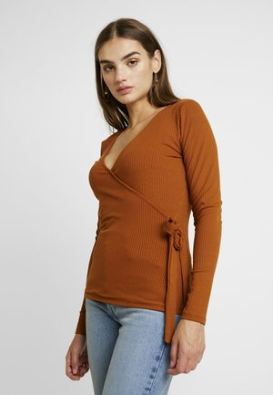 Long sleeved top - caramel café