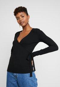 Vila - Long sleeved top - black - 0