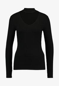 Vila - Long sleeved top - black - 3