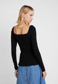 Vila - Long sleeved top - black - 2
