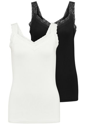 VIDIANA  2Pack - Top - black/snow white