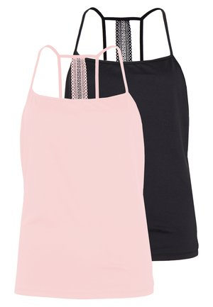 VISONJA 2 PACK - Top - black/misty rose