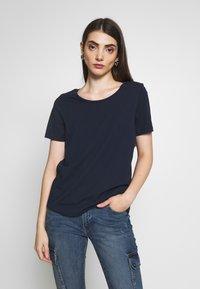 Vila - VISUS ONECK - T-shirts print - navy blazer - 0