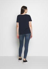 Vila - VISUS ONECK - T-shirts print - navy blazer - 2
