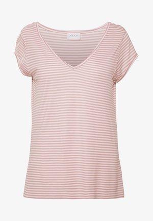 Print T-shirt - pale mauve/optical snow