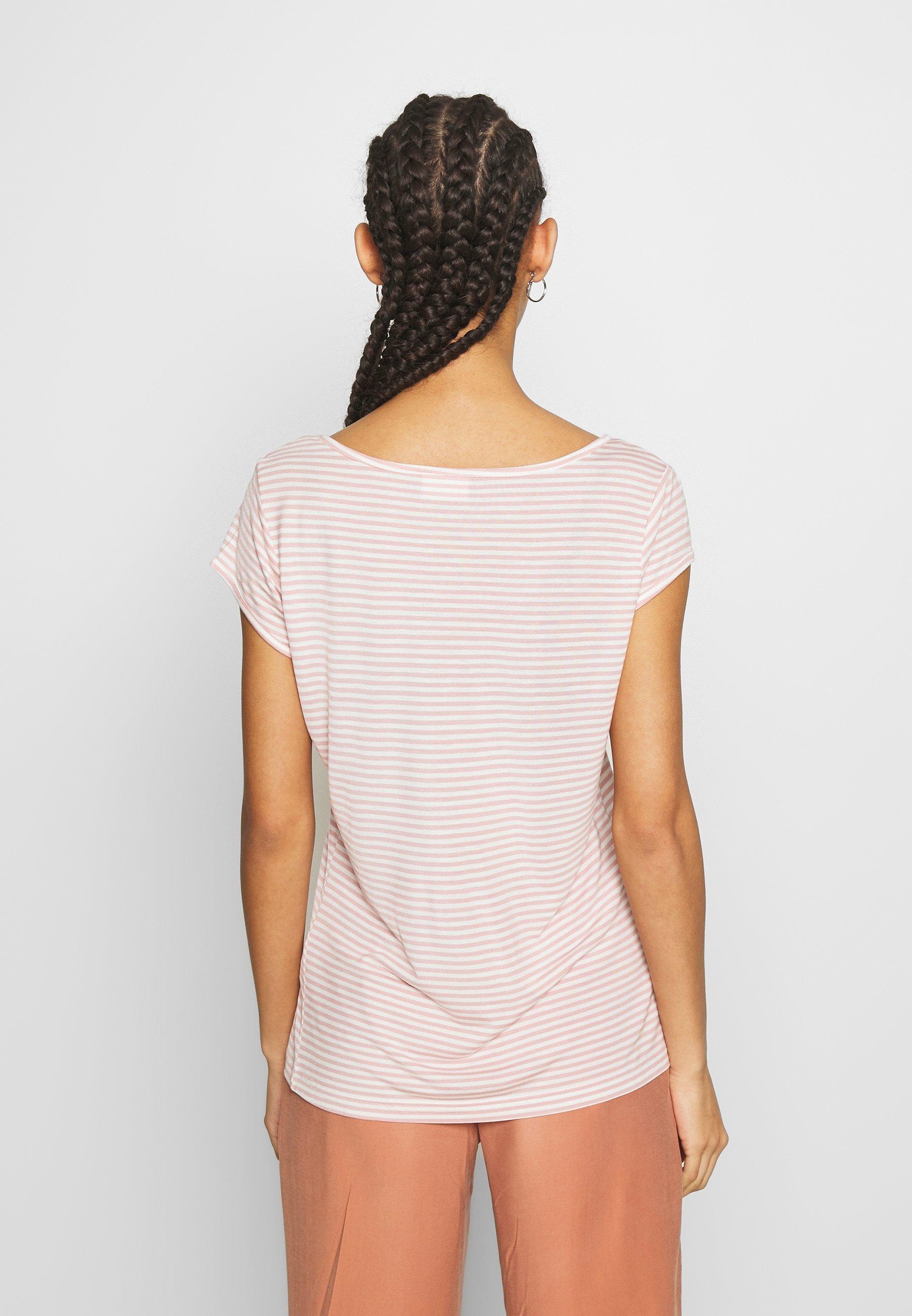 Vila T-shirts med print - pale mauve/optical snow