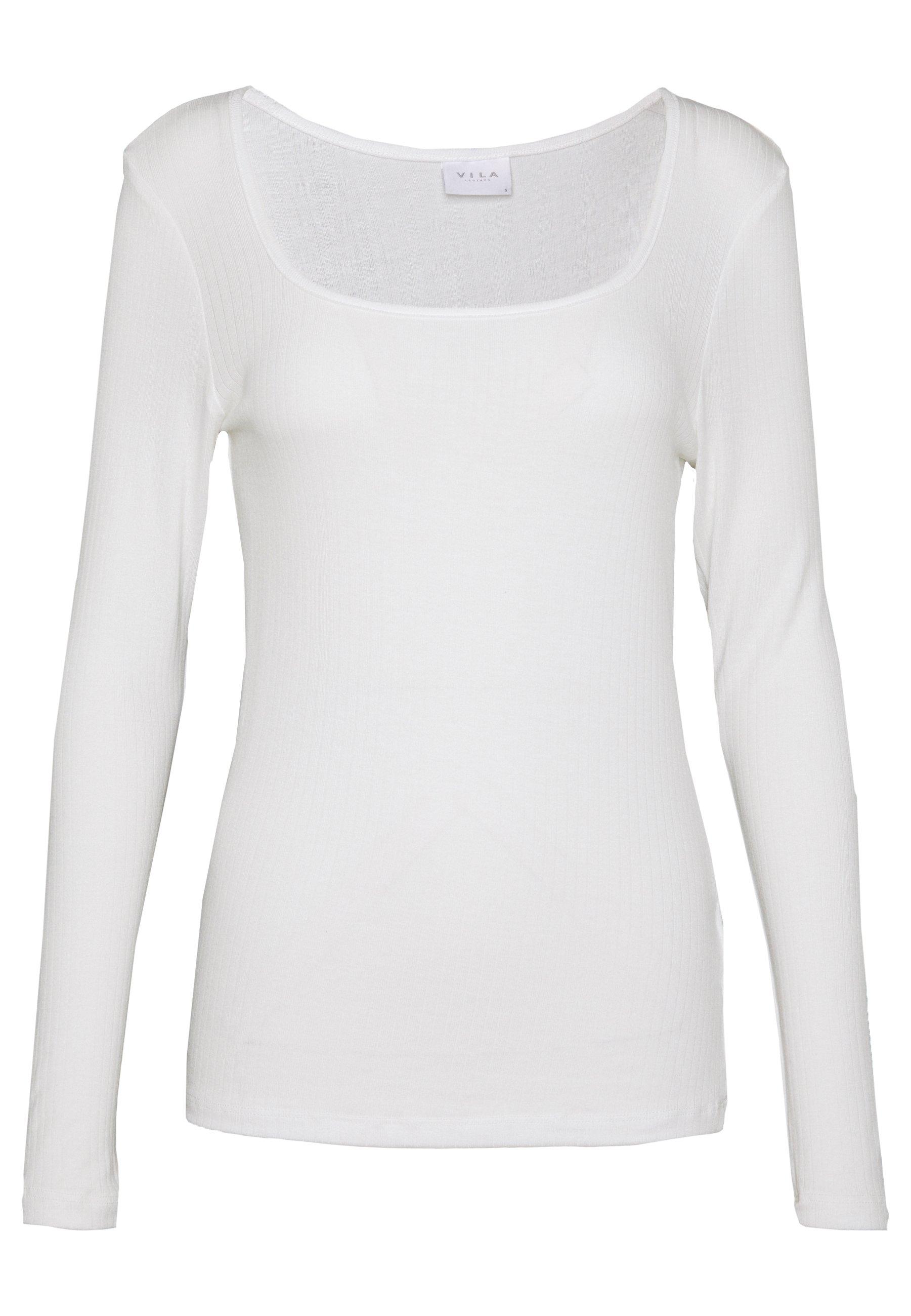 Vila Visuloma - Long Sleeved Top White Alyssum