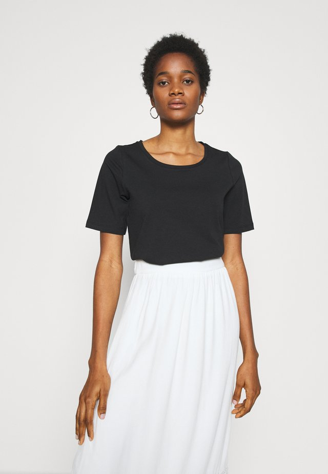 VIABBEY FESTIVAL CROPPED - Basic T-shirt - black