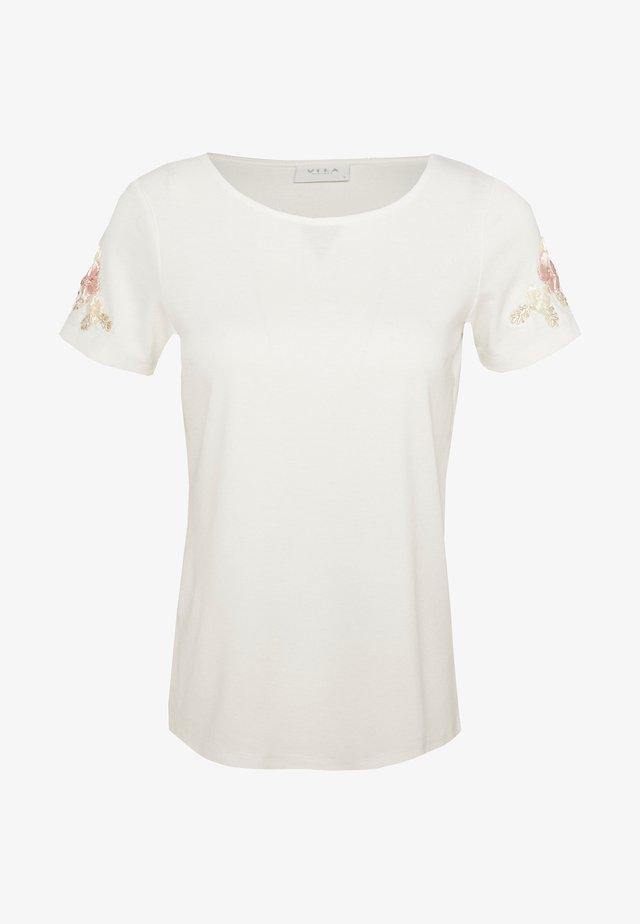 VITINNY FLOWER - T-shirt print - cloud dancer/pink