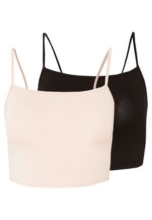 VILALI FESTIVAL CROPPED 2 PACK - Top - black/rose smoke