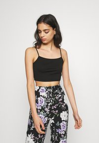 Vila - VILALI FESTIVAL CROPPED 2 PACK - Top - black/rose smoke - 2