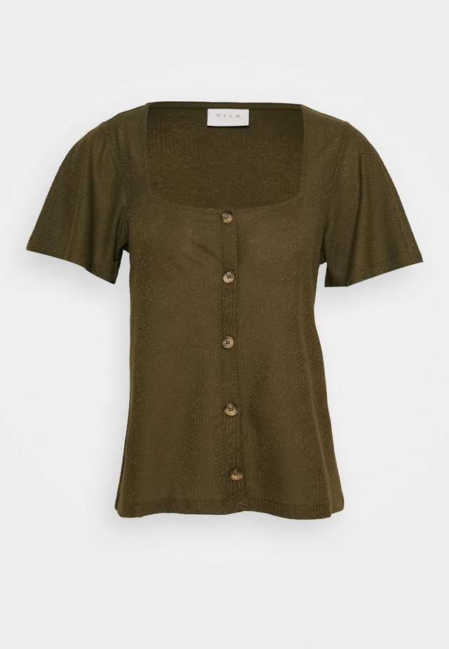 VIMOANA - T-shirt basic - dark olive