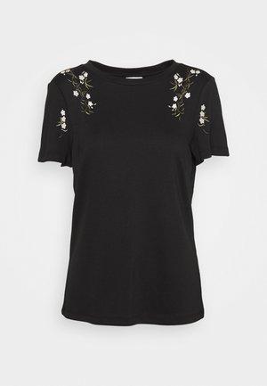 VIGIGS SHOULDER DETAIL  - T-shirts print - black