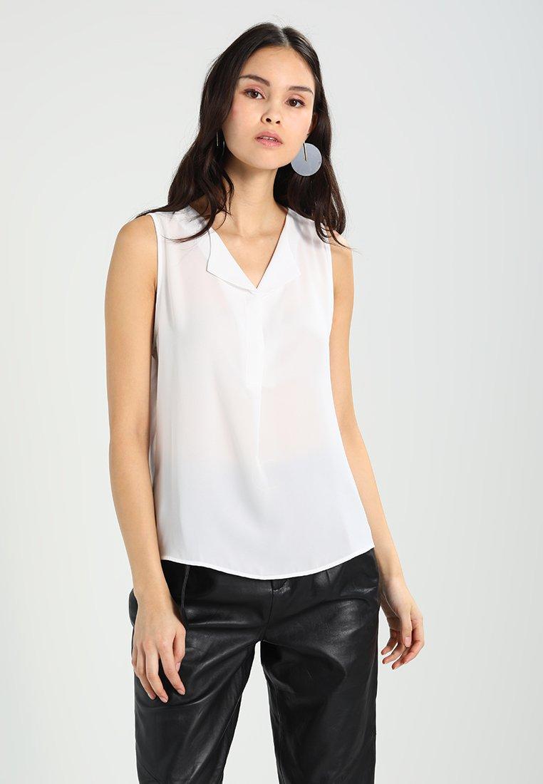 Vila - VILUCY TOP  - Button-down blouse - snow white