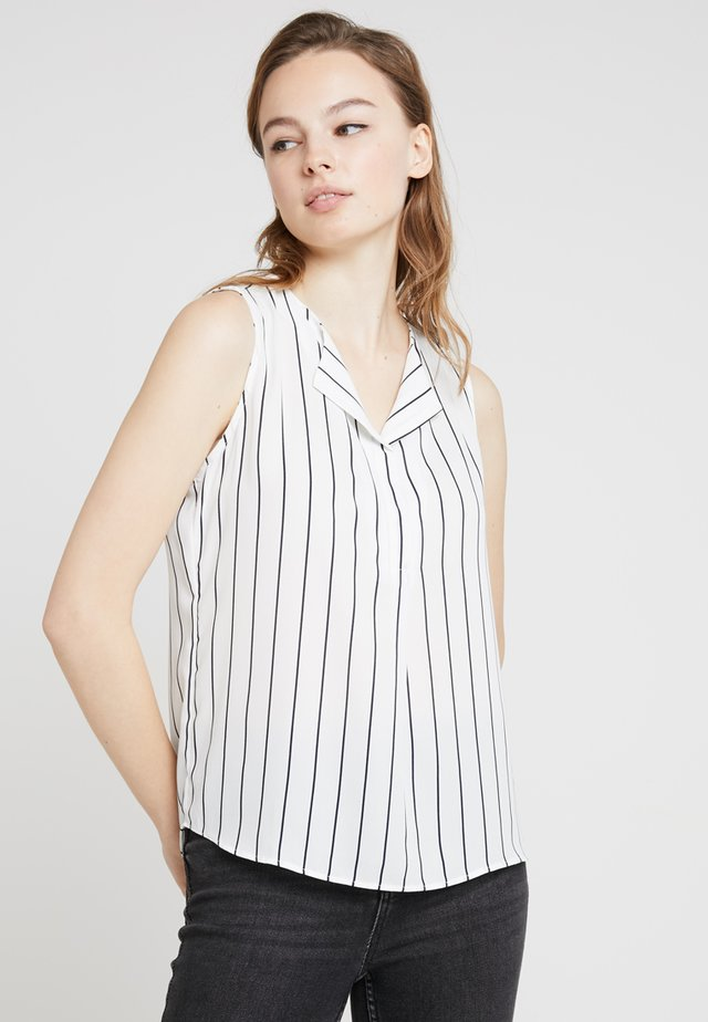 VILUCY TOP  - Button-down blouse - snow white/total eclipse