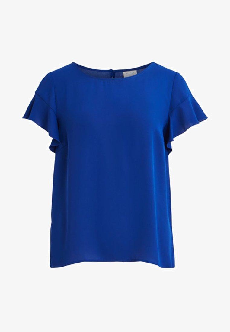 Vila - VILUCY FLOUNCE - Bluse - blue