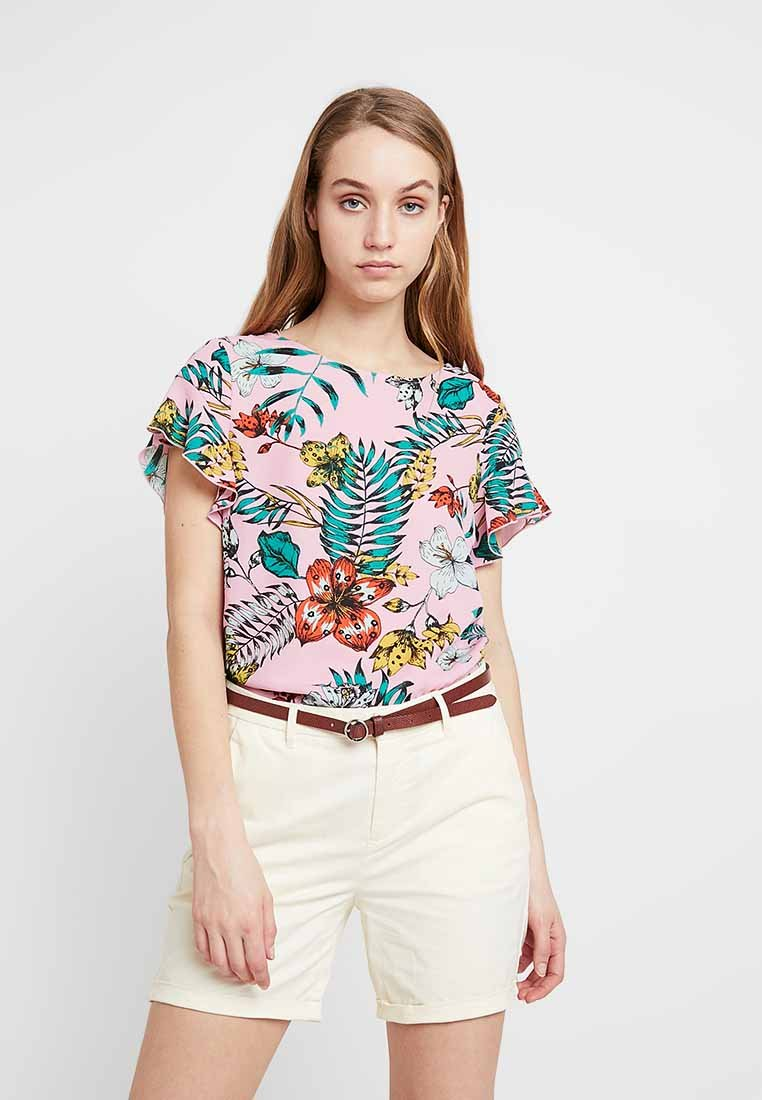 Vila - VILUCY FLOUNCE - Bluse - begonia pink