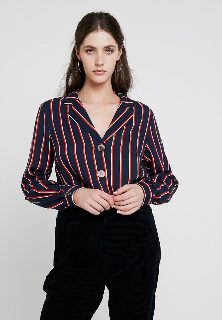 Vila - VISEZU TRACKIE - Bluse - navy blazer/trackie