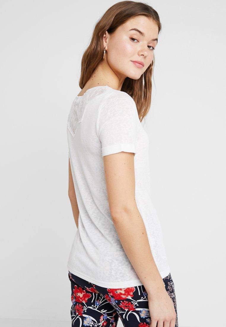 Vila - VISUMI NEW BACK - T-Shirt print - snow white