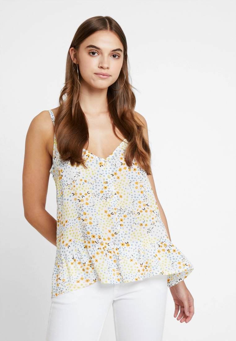 Vila - VIMOSALY PRIMROSE SINGLET - Top - cloud dancer